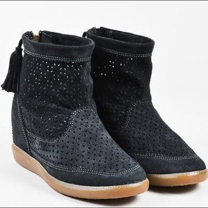 "Isabel Marant  Suede Perforated  ""Basley""  Boots"